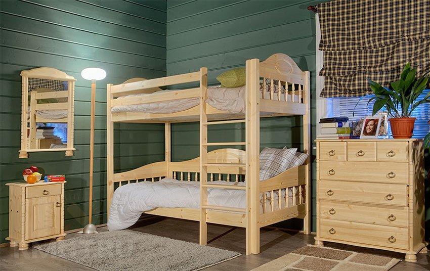 Кровать выдвижная двухъярусная расчет с чертежом