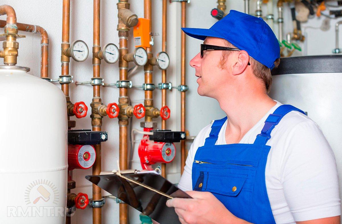 Обслуживание систем отопления зданий